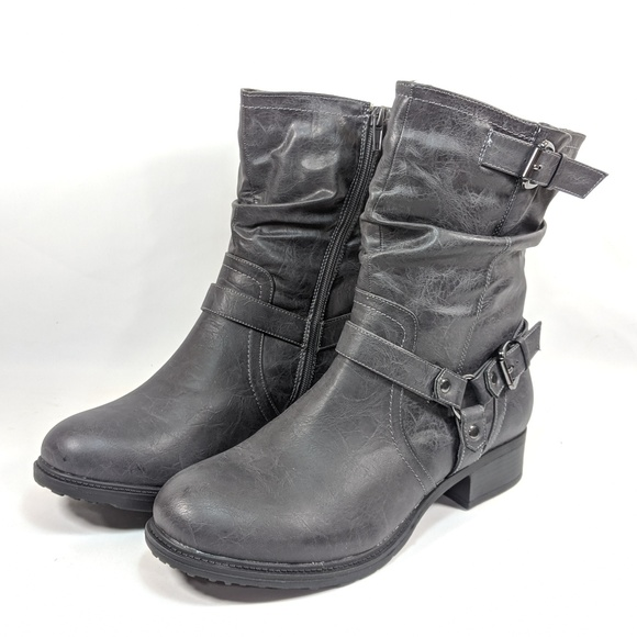 Harness Slouch Boots Womens 13 Wide